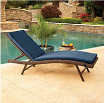 2pk Chaise Lounge Cushions - Indigo