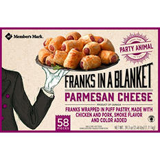 Member's Mark Franks in a Blanket, Parmesan Cheese (58 ct.)