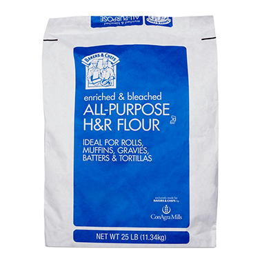 Bakers & Chefs All Purpose Flour - 25 lb. bag