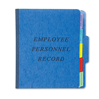 Pendaflex - Vertical Personnel Folders, 1/3 Cut Top Tab, Letter - Blue