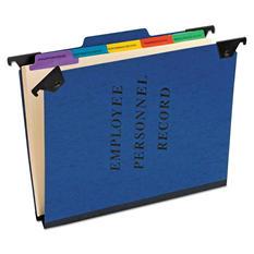 Pendaflex 1/3 Tab PressGuard Hanging Personnel Folder, Blue (Letter)