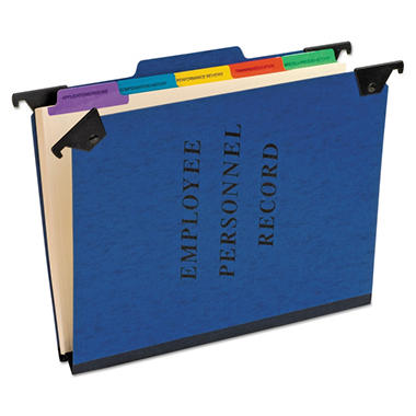 Pendaflex - Hanging Personnel Folders, 1/3 Cut Top Tab, Letter - Blue