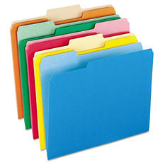 Pendaflex 1/3 Top Tab File Folders, Two-Tone Assorted Colors (Letter, 100 ct.)