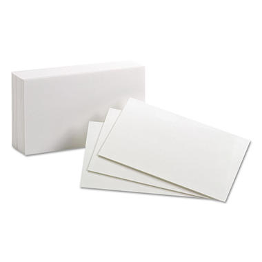 "Oxford - Index Cards, Unruled, 3 x 5"" - 100 Cards"