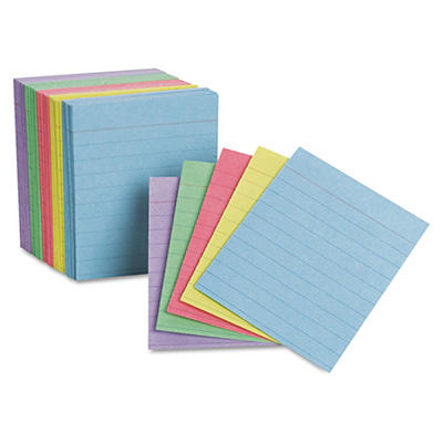"Oxford - Mini Index Cards, Ruled, 3 x 2-1/2"", Rainbow Colors - 200 Cards"
