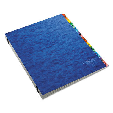 Pendaflex Acrylic-Coated PressGuard Expandable Alphabetical Index Desk File, Blue (Letter)