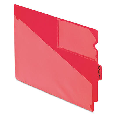 """Pendaflex - Out Guides, Center """"OUT"""" Tab, Vinyl, Letter, Red - 50/Box"""