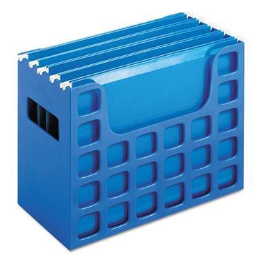 Oxford - DecoFlex Letter Size Desktop Hanging File, Plastic, 12-1/4 x 6 x 9-1/2 - Blue