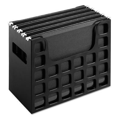 Oxford - DecoFlex Letter Size Desktop Hanging File, Plastic, 12-1/4 x 6 x 9-1/2 - Black