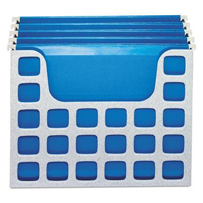 Oxford - DecoFlex Letter Size Desktop Hanging File, Plastic, 12-1/4 x 6 x 9-1/2 - Granite