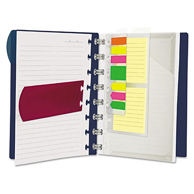 Ampad Versa Notebook - Letter - Wide Ruled  - Navy - 60 Sheets