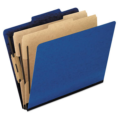Pendaflex 6-Section Pressguard Hanging Classification Folder, Blue (Legal, 10 ct.)