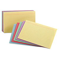 "Oxford - Index Cards, Ruled, 3 x 5"", Rainbow Assortment - 100 Cards"