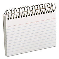 Oxford - Spiral Index Cards, 3 x 5, 50 Cards -  White