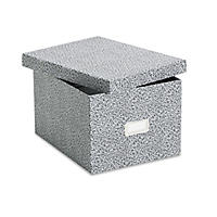 Oxford - Card File with Lift-Off Lid Holds 1,200 6 x 9 Cards -  Black/White Paper Board