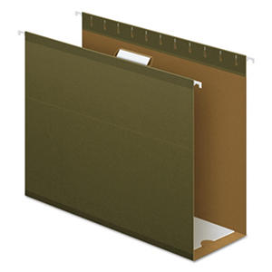 "Pendaflex 4"" Reinforced Extra Capacity Hanging Folders, Standard Green (Letter, 25 ct.)"