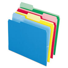 Pendaflex 1/3 Tab CutLess File Folders, Assorted Colors (Letter, 100 ct.)