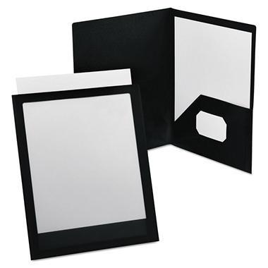 Esselte ViewFolio Polypropylene Portfolio, 50-Sheet Capacity, Blue/Clear