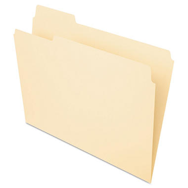 Pendaflex Essentials 1/3 Tab Straight Cut Folders, Manila (Letter 100 ct.)