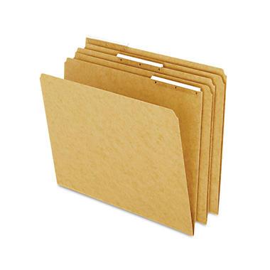 Pendaflex 1/3 Tab Kraft Angled Plastic Tab File Folders, Brown (Letter, 50 ct.)