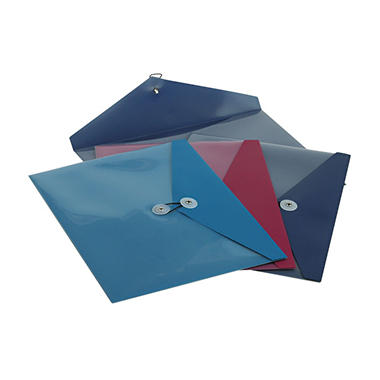 "Pendaflex - ViewFront Standard Pocket Poly Booklet Envelope, 11"" x 9 1/2"" - 4 ct."