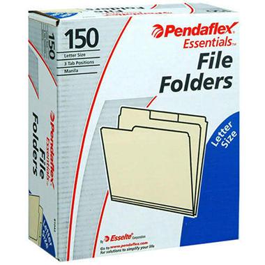 Pendaflex® Essentials File Folders - 150 ct.