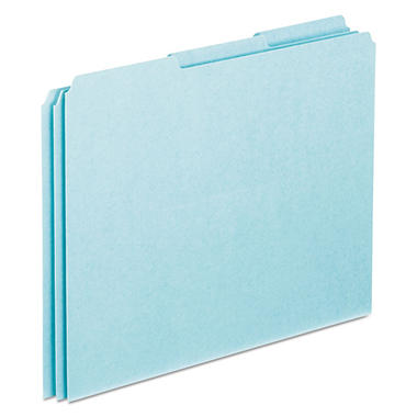 Blank Tab File Guides-25 Pt. BE Pressbrd-1/3 Cut