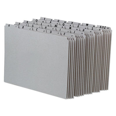 Pendaflex 1/5 Tab Recycled Alphabetical File Guides, Gray (Letter, 25 ct.)