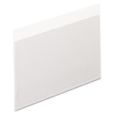 Pendaflex - Self-Adhesive Vinyl Pockets, 3 x 5, Clear Front/White Backing -  100/Box
