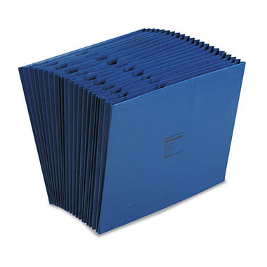 Wilson Jones - ColorLife Expanding A-Z Indexed Files, 21 Pockets, Letter - Dark Blue