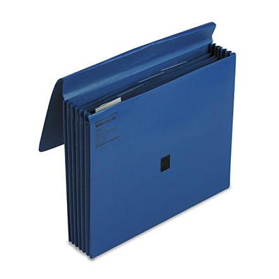 """Wilson Jones 5 1/4"""" 5-Pocket ColorLife Expansion File, Dark Blue (Letter)"""