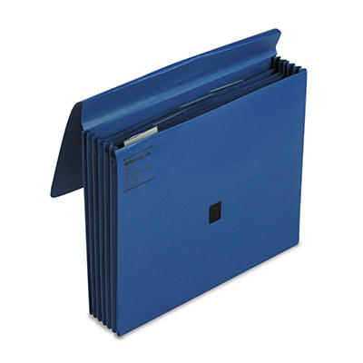 "Wilson Jones 5 1/4"" 5-Pocket ColorLife Expansion File, Dark Blue (Letter)"