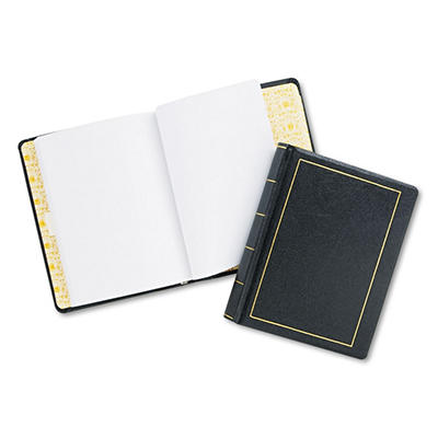 "Wilson Jones - Looseleaf Minute Book, Black Faux Leather Cover, 125 Pages - 8 1/2"" x 11"""