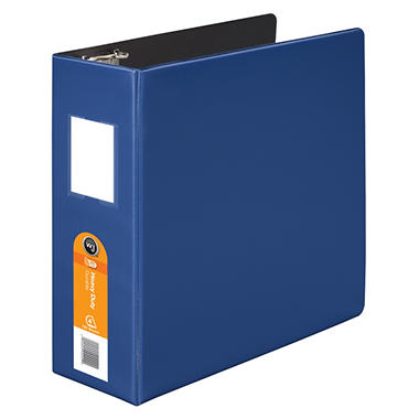 Wilson Jones Heavy Duty No Gap D-Ring Binder With Label Holder, 4