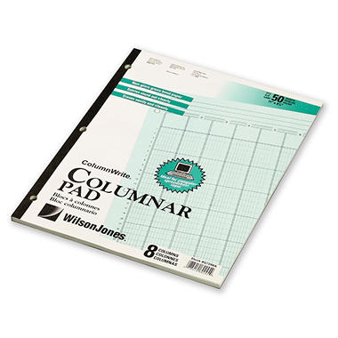 Accounting Pad/Five 8-Unit Columns - 50-Sheet Pad