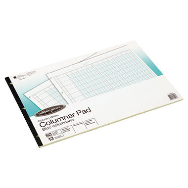 Accounting Pad/13 8-Unit Columns- 50-Sheet Pad