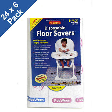Disposable Floor Saver Pads - 24 x 6 pk.