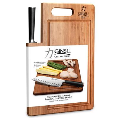 "Ginsu's Chikara 7"" Santoku with Cutting Board"