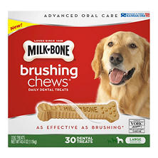 Milk-Bone Brushing Chews Daily Dental Treats, Large (30 ct.)