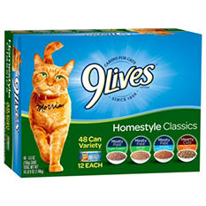 9 Lives Homestyle Classics Variety Pack  (5.5 oz., 48 ct.)