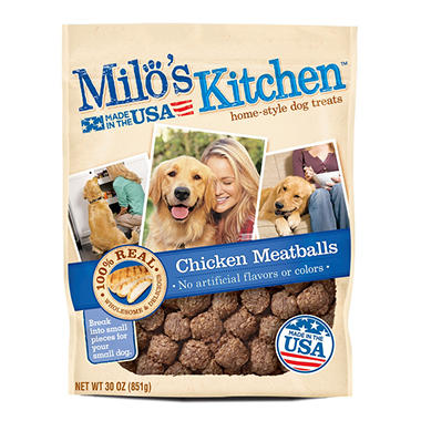 Milo S Kitchen Chicken Meatballs Dog Treats