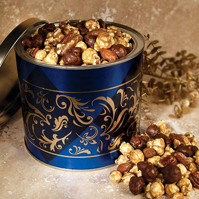 Dark Chocolate Gourmet Caramel Corn with Almonds & Pecans (20 oz.)