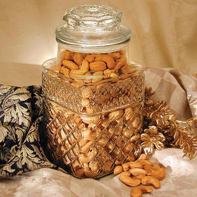 Golden Kernel Fancy Colossal Cashews Jar - 32 oz.