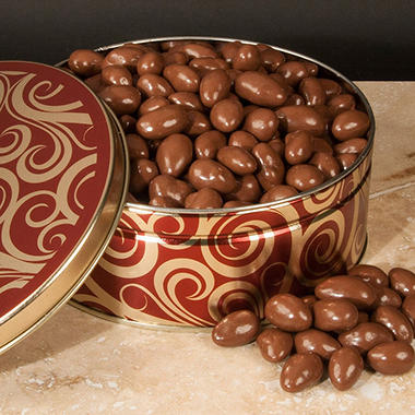 Chocolate Covered Almonds Gift Diamond Tin - 40 oz.