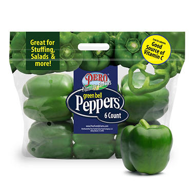Green Bell Peppers - 6 ct.