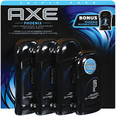 AXE Phoenix Invisible Solid Bonus Pack (2.7 oz., 3 pk & 1.7 oz., 1 pk.)