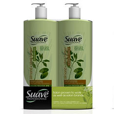 Suave Professionals Shampoo/Conditioner, Almond & Shea Butter - 40 oz . - 2 pk.