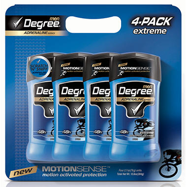Degree Adrenaline Deodorant (4 pk.)