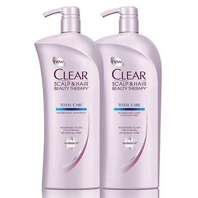 Clear Total Care Shampoo and Conditioner - 33 oz. each