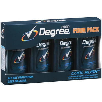 Degree Men Invisible Solid - Cool Rush - 2.7 oz. - 4 pk.